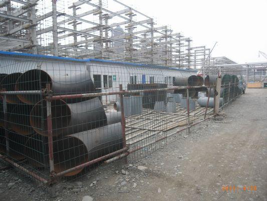 四川石化项目设材部库房标准化建设率先完成